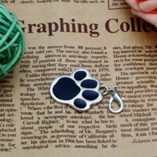 New 6 colors Pet Jewelry Cat dog collar pendant tags Pawprint Necklace Collar Puppy identity collar accessory drop - Hespirides Gifts - 2