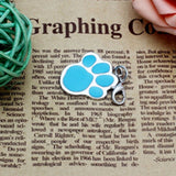 New 6 colors Pet Jewelry Cat dog collar pendant tags Pawprint Necklace Collar Puppy identity collar accessory drop - Hespirides Gifts - 3