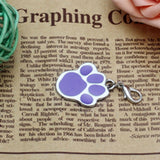New 6 colors Pet Jewelry Cat dog collar pendant tags Pawprint Necklace Collar Puppy identity collar accessory drop - Hespirides Gifts - 5