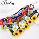 Boho Daisy Hair Bands for Women Hair Accessories New Headbands Festival Scrunchyl Elastic Flower Hair Garland - Hespirides Gifts - 1