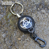EDC Outdoor Steel Rope Burglar Keychain Stalker Soft Shell Tactical Retractable Key Chain, Key Return key ring Camping - Hespirides Gifts - 1