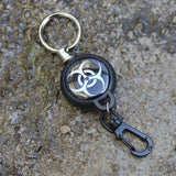 EDC Outdoor Steel Rope Burglar Keychain Stalker Soft Shell Tactical Retractable Key Chain, Key Return key ring Camping - Hespirides Gifts - 8