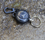 EDC Outdoor Steel Rope Burglar Keychain Stalker Soft Shell Tactical Retractable Key Chain, Key Return key ring Camping - Hespirides Gifts - 6