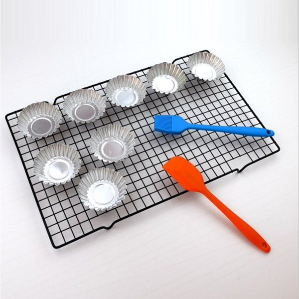 Nonstick Metal Cake Cooling Rack Net Cookies Biscuits Bread Muffins Drying Stand Cooler Holder Kitchen Baking Tools 25*40cm