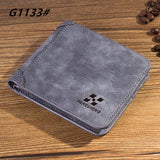 High quality men's retro matte PU leather Wallets men Wholesale short leather wallets card holders purse for men - Hespirides Gifts - 2