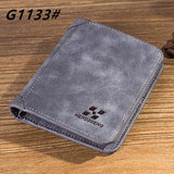 High quality men's retro matte PU leather Wallets men Wholesale short leather wallets card holders purse for men - Hespirides Gifts - 6