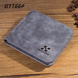 High quality men's retro matte PU leather Wallets men Wholesale short leather wallets card holders purse for men - Hespirides Gifts - 8