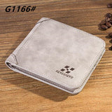 High quality men's retro matte PU leather Wallets men Wholesale short leather wallets card holders purse for men - Hespirides Gifts - 13