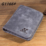 High quality men's retro matte PU leather Wallets men Wholesale short leather wallets card holders purse for men - Hespirides Gifts - 3