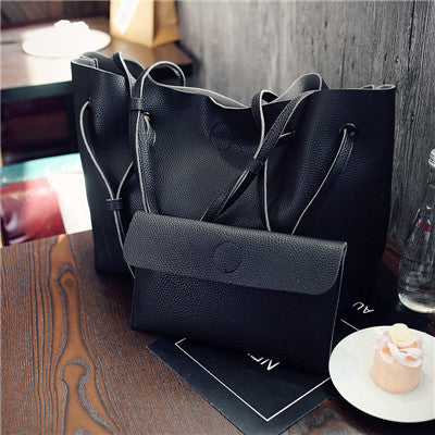 YBYT brand 2017 new casual female tote composite handbag ladies pack hotsale simple large capacity fresh women shoulder bag