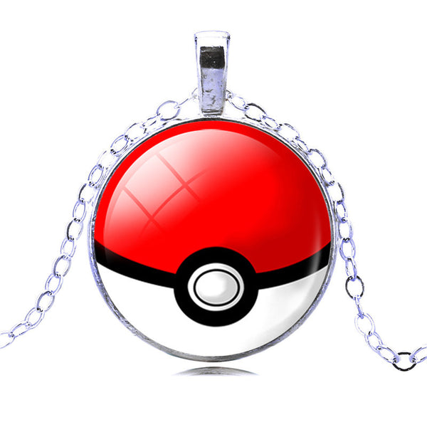 Fashion Silver Color Pendant Necklace Pokemon Ball Statement Chain Necklace Newest Vintage Style Necklace - Hespirides Gifts - 2