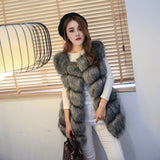 hongzuo PC043 Fur Coat With Free Winter Scarf