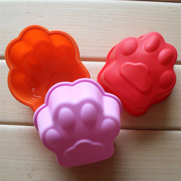 New Cat Paw Print Bakeware Silicone Mould Chocolate Cookie Candy Soap Resin Wax Mold Cake Decorating Tools