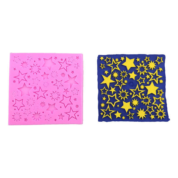 Creative Stars Fondant Chocolate Silicone Mold Cake Decorating Mold Kitchen Baking Tool