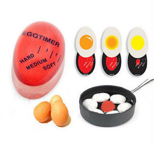 Wholesale 1pcs Egg Perfect Color Changing Timer Yummy Soft Hard Boiled Eggs Cooking Kitchen