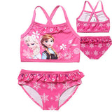 New 2016 Elsa&Anna Girl's Two Pieces Tankini Summer Style Cute Swimwear For Children&Kid's Bikini Sets 3-12Y Swimsuit SW068-CGR1