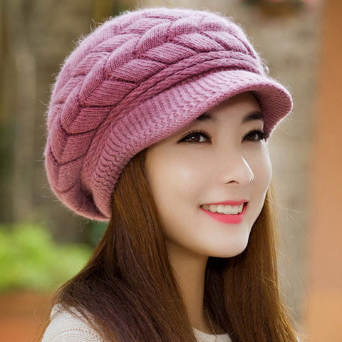 Winter Women Hat Warm Knitted Crochet Slouch Baggy Beret Beanie Hat Cap for women bonnet femme Y1 - Hespirides Gifts - 1
