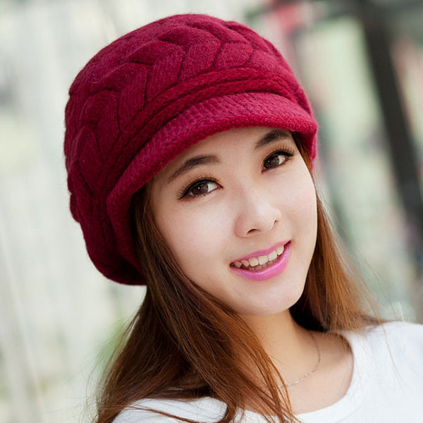 11eda96aecb7e Buy Winter Women Hat Warm Knitted Crochet Slouch Baggy Beret Beanie Hat Cap  for women bonnet femme Y1 at Hespirides Gifts for only  12.99 USD