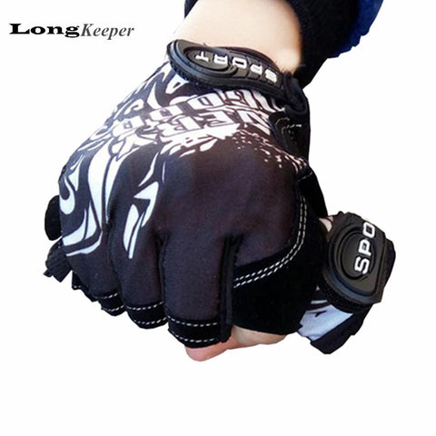 Fashion Sport gloves Half-finger mittens fingerless men women glove Exercise half finger luva fitness male guantes G1 - Hespirides Gifts - 1