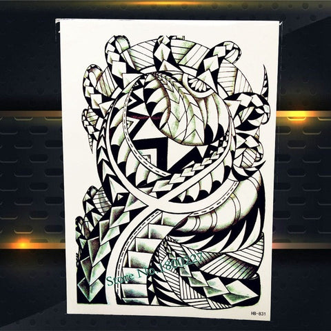 Buy large body art arm sleeves temporary tattoo sticker for Fast and furious tattoo