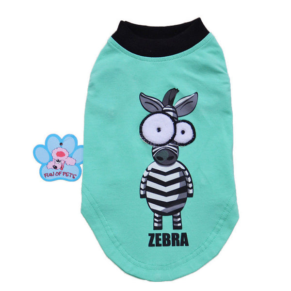 Free Shipping New Fashion Cotton Cartoon Big Eyes Dog Pet Vest Clothes