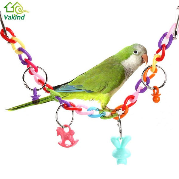 Small Birds Toys Pet Toy Accessories Acrylic Chew Swing Climb Ladder Scratcher Bites Toys  For Cockatiel Parakeet