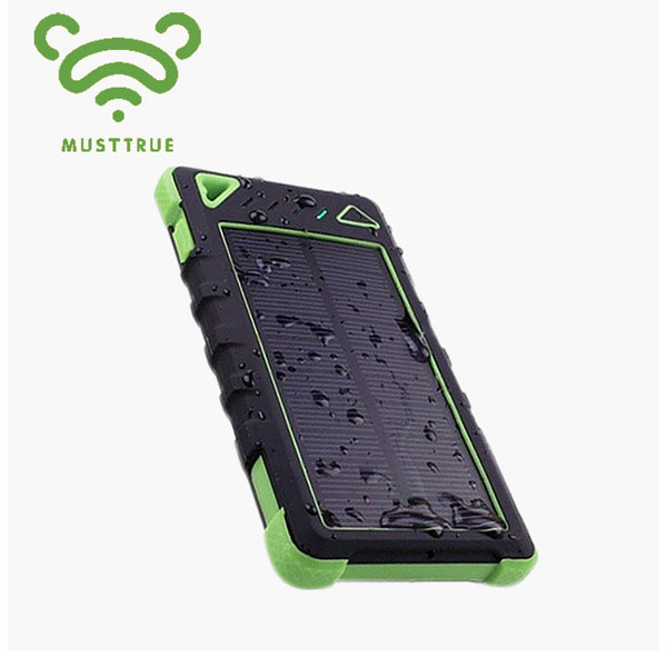 MUSTTRUE Solar Charger Mobile Solar Power Bank 12000mah Backup Bateria Externa Portable Charger Powerbank FOR mobile phone - Hespirides Gifts