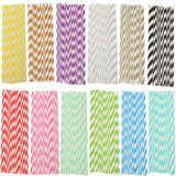 2016 High Quality 25pcs Drinking Blue Striped Paper Straws Wedding Birthday Party Supplies - Hespirides Gifts - 1