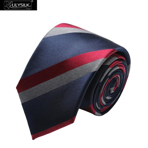 Lilysilk Men Silk Tie Gravata Pure Chinese Silky Elegant Top-Quality Brand New Formal Male Business Accessories Wedding Gift Man