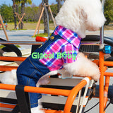 New Brand Lattice Denim Overalls of 100% High-quality for Pet Dogs