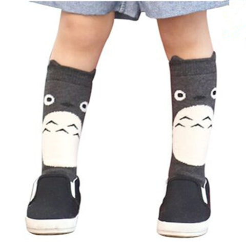 Toddler New Totoro Design Knee High Baby Socks Girls Boys Fall Winter Leg Warmers Fox Socks Knee Pad Meia - Hespirides Gifts - 1