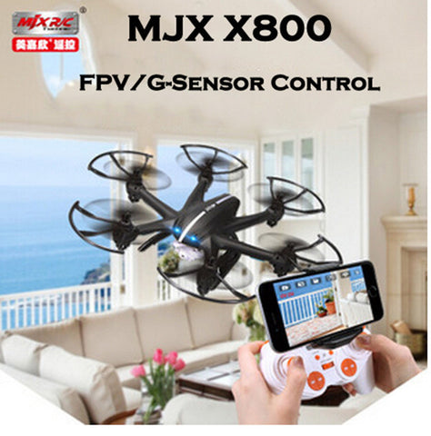 MJX X800 /X800C 2.4G 6-Axis RC Drone Helicopter Can Add C4005 FPV HD Wifi Camera White & Black Syma X5SW X5C - Hespirides Gifts