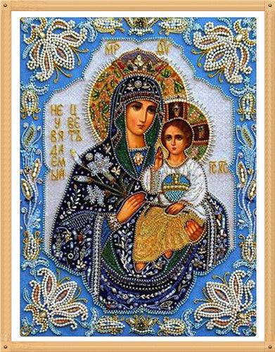 Wholesale DIY Diamond Paintings cross stitch Embroidery virgin hug Jesus Home Decoration Rhinestone Wall Stickers Needlework zx - Hespirides Gifts - 5