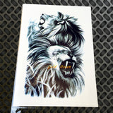 Hot Fashion Indian King Lion Head Designs Flash Tattoo Black Waterproof Tattoo Sticker GB496 Men Body Art Arm Sleeve Tatoo Lions