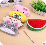 Kawaii Cartoon Animal Large Capacity Plush Pencil Holder Storage Pouch Cosmetic Bag Promotional Gift Stationery - Hespirides Gifts - 1