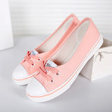 Women Shoes Ballet Flats Loafers Casual Breathable Women Flats Slip On Fashion Canvas Flats Shoes Women Low Shallow Mouth - Hespirides Gifts - 8
