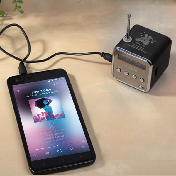 In stock! 1pcs black Aluminum alloy Portable Micro TF USB Mini Stereo Speaker Music Player FM Radio PC MP3 /4 - Hespirides Gifts