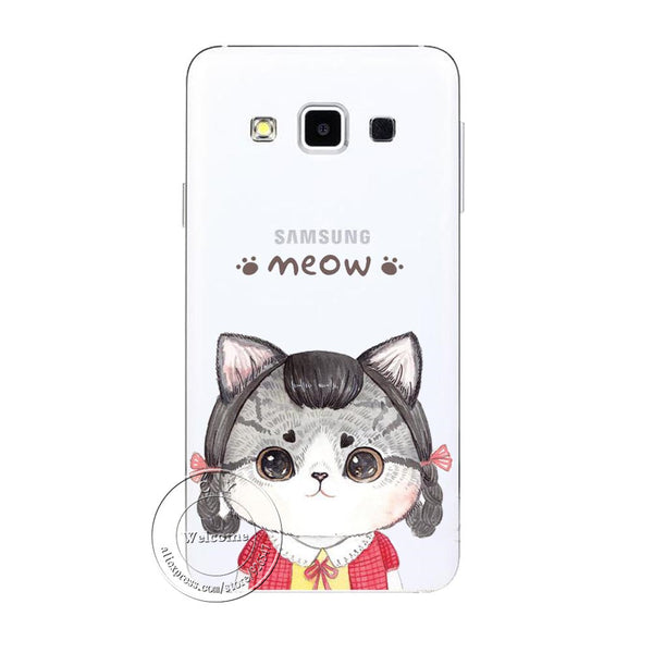 New Fashion Super Cute Cat Hard Case Cover For Samsung Galaxy S3 S4 S5 Mini S6 S7 Edge Note 2 3 4 5 A3 A5 A7 A8 J1 J5 J7 - Hespirides Gifts - 6
