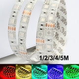 DC12V 1/2/3/4/5M Flexible 5050 LED Lighting Strip 60leds/m waterproof SMD Fita Ribbon 3M RGB Tape Car lamp Home Decor Car lamp - Hespirides Gifts - 1