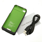 Power Bank Case Cover For iPhone 4 4S 4G 1900mAh Portable Backup Battery Charger Wallet Pouch - Hespirides Gifts - 5