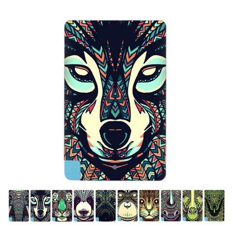 Unique Texture Animal Elephant Pattern Portable Ultra Thin Card 2600mAh Power Bank Battery Charger power For Android phone - Hespirides Gifts