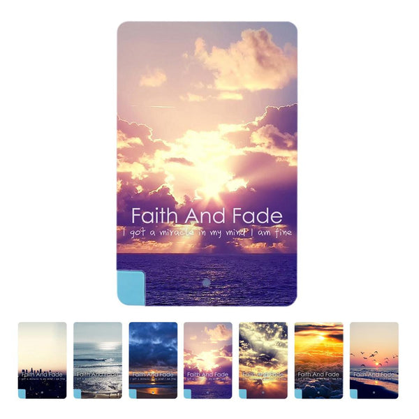 New Ultra Thin Card 2600mAh Power Bank Pocket Battery Charger power For iphone for samsung printed with faith and fade patterns - Hespirides Gifts