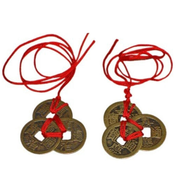 Top Quality Best Price 2 Sets Of 3 Chinese Feng Shui Coins For Wealth And Success Lucky - Hespirides Gifts