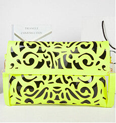 Hollow out Envelope Bags Hot Sale Hot Promotion Fluorescence Color Women's Candy Color Shoulder Handbags Day Clutch Bags D99-5 - Hespirides Gifts - 2