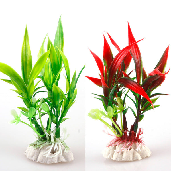 New Red Green Plastic Plant Grass Aquarium Decorative Fish Tank Landscape Decoration #27650 - Hespirides Gifts