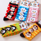 Mickey & Minnie Donald Duck, Daisy, chipmunk, Goofy Dongkuan knitted cotton socks in tube socks - Hespirides Gifts - 1
