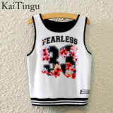 KaiTingu Brand New Fashion Women Sleeveless Sky Print Crop Top Cropped Tops Casual Sport Top Fitness Women Vest Tank Tops - Hespirides Gifts - 15