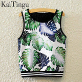 KaiTingu Brand New Fashion Women Sleeveless Sky Print Crop Top Cropped Tops Casual Sport Top Fitness Women Vest Tank Tops - Hespirides Gifts - 14