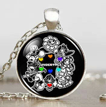 Undertale fans Game Gamer Gaming Men Handmade Fashion Necklace brass silver Pendant steampunk Jewelry womens new chain toy mens - Hespirides Gifts
