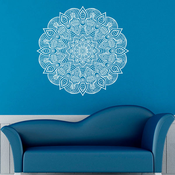 Namaste Yoga Vinyl Art Wall Stickers Mandalas Pattern Removable Wall Decal Sticker For Home Decoration - Hespirides Gifts